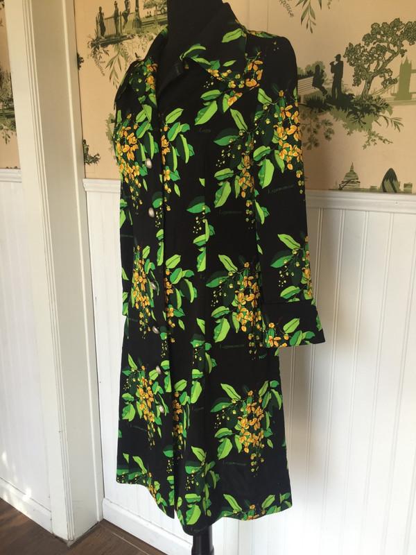Nobuo Casual 70's Japanese Print Dress size medium large 11-13