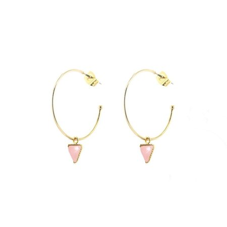 L'atelier Emma & Chloe Lara Earrings - Rose Quartz