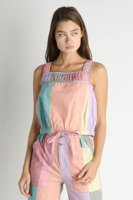 Current Air Rainbow Sherbet Set Top - Pastel