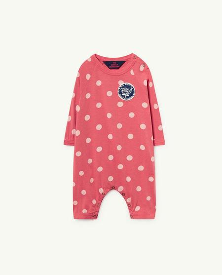 KIDS The Animals Observatory Owl Baby Romper - Red Polka Dots