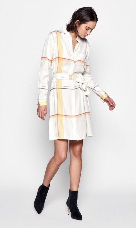 Equipment Ravena Dress - Nature White Multi