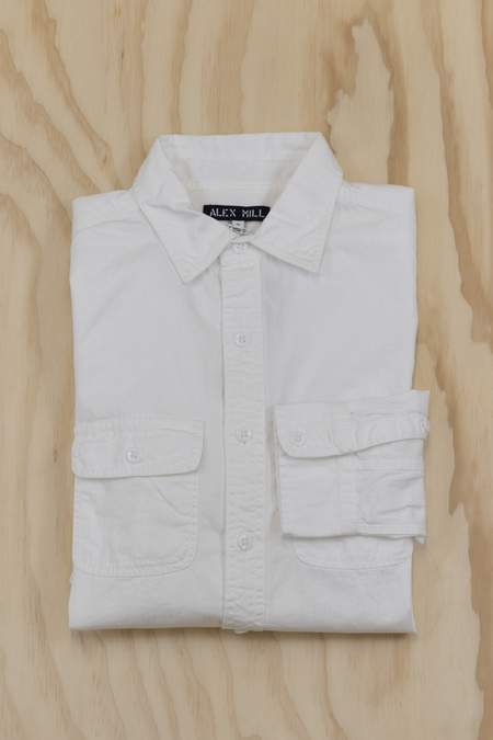 Alex Mill Cotton Roadhouse Shirt - white