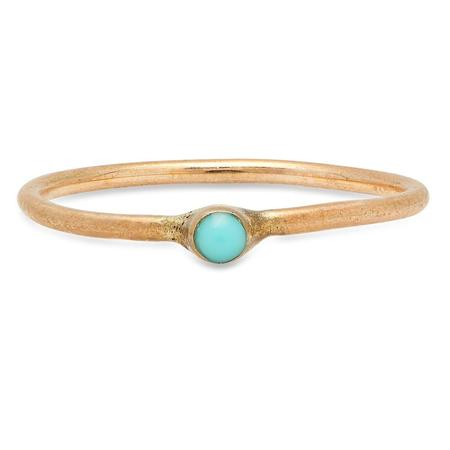 Studio Grun Single Crown Ring - Bronze/Turquoise