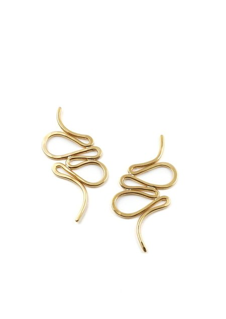 Tiro Tiro Estilo Earrings - Brass