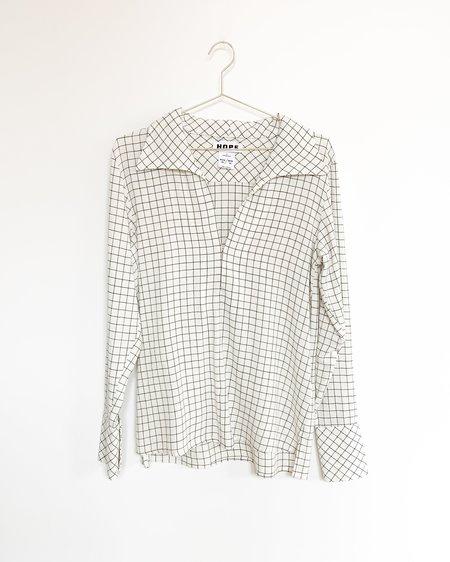 Hope Maxi Shirt - Off White Check