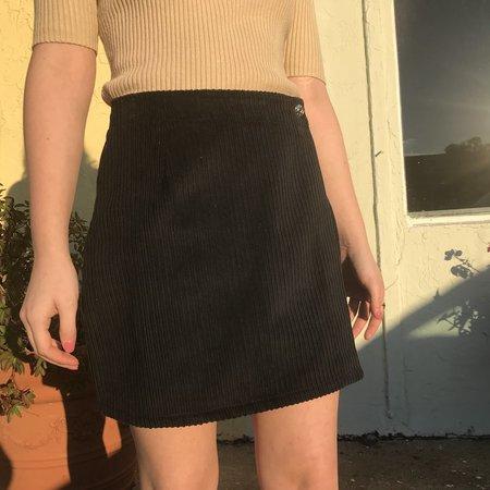 Horizons Vintage Cord Skirt - Black