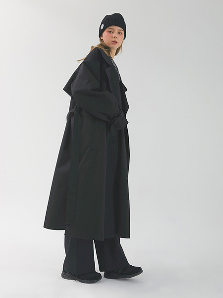 CHORRD Over Trench Coat - Black