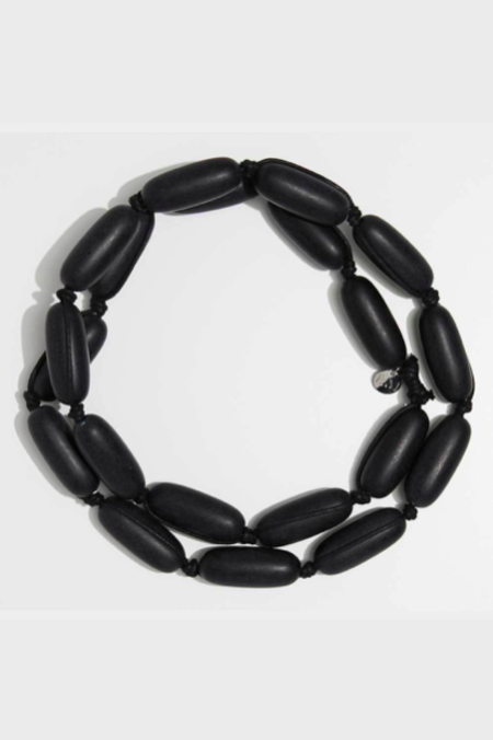 Evie Marques Black on Black Cord Necklace