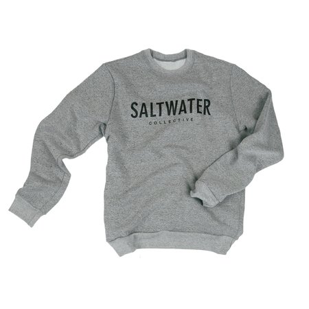 UNISEX The Saltwater Collective Classic Crew - Marled Grey