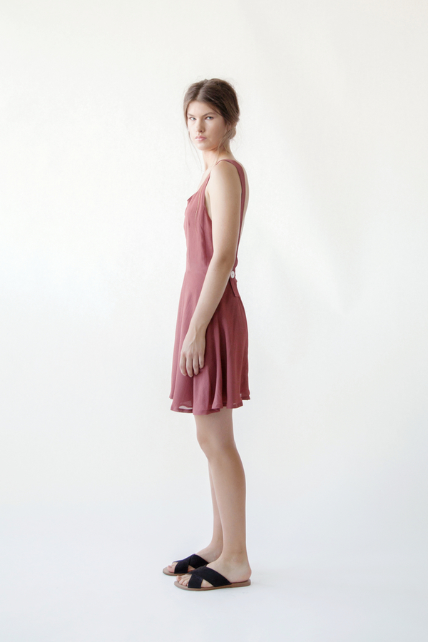 Stil. Princeton Dress In Rust