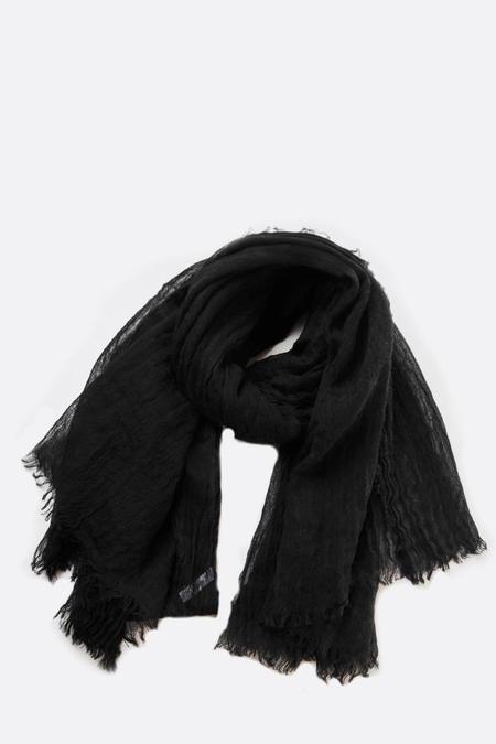 Botto Giuseppe Cashmere Linen Kefiah Scarf - Black