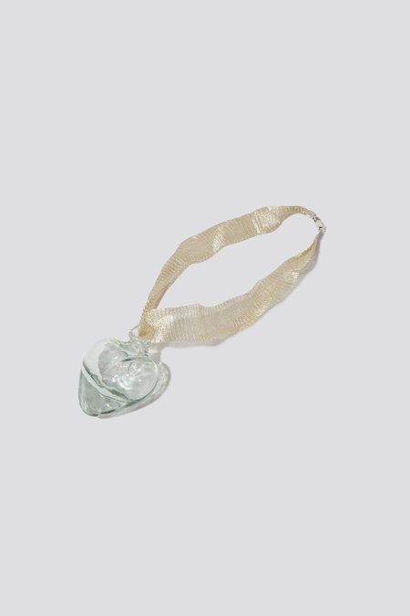 Alexa De La Cruz Glass Heart Necklace - Clear