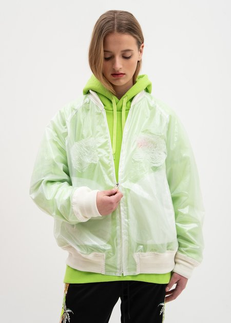 Doublet Clear Transparent Embroidery Souvenir Jacket - Clear