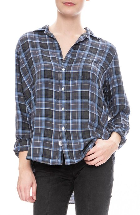 Frank & Eileen Eileen Modal Plaid Shirt - Blue/Black