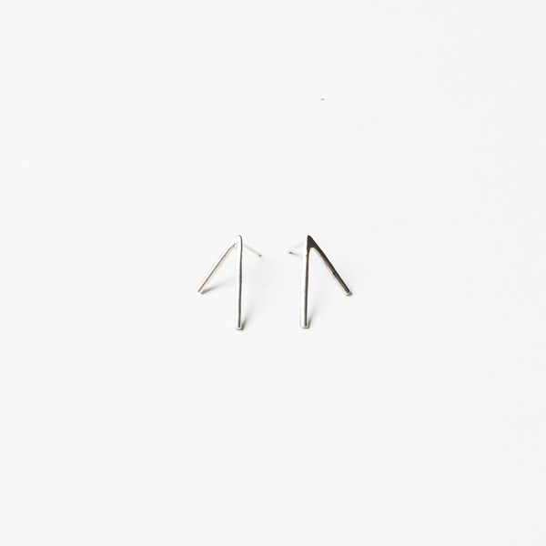 Another Feather Silver Dart Earring