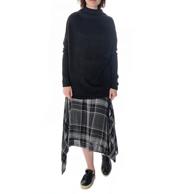 08sircus Black Mock Neck Sweater