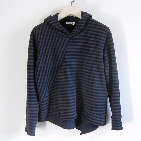 Wilt Striped Hoodie - Blueberry