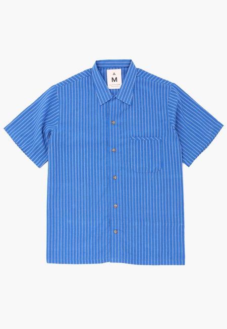 Deshal Pani Box Button-Down - Blue/White