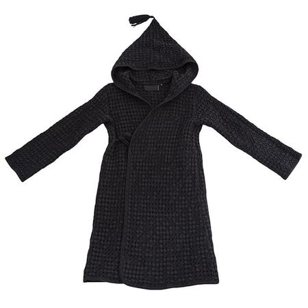 KIDS Moumout Paris Baby And Child Pepin Bee Honeycomb Bathrobe - Ink Black