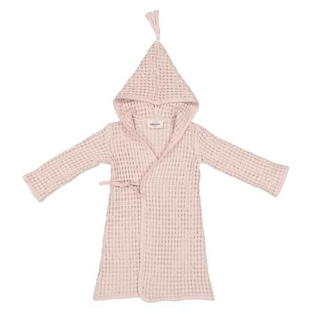KIDS Moumout Paris Pepin Bee Honeycomb Bathrobe - Nu Pink