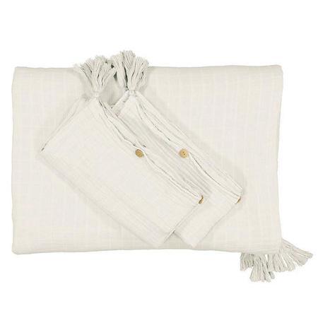 Moumout Paris Twin Bed Duvet Cover And Pillow Case Set - Milk White