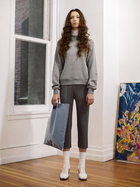 Issey Miyake Cropped Trouser - Gray
