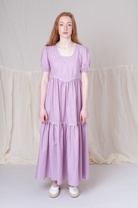 b4a3f2f9c3 BATSHEVA EMPIRE DRESS - LAVENDER BATSHEVA EMPIRE DRESS - LAVENDER