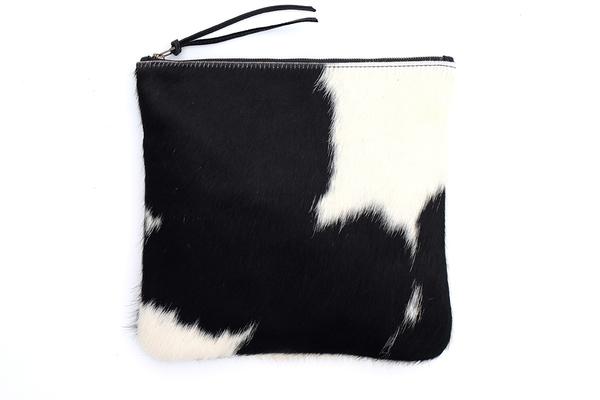 Primecut BLACK + WHITE FOLD OVER CLUTCH