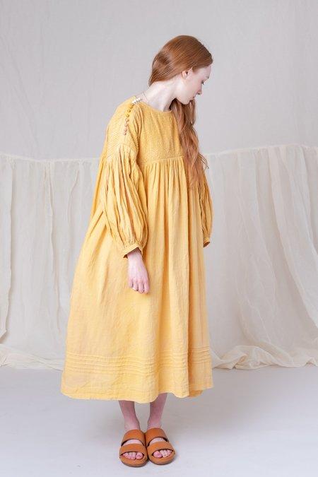 STORY mfg. MON DRESS - JACKFRUIT YELLOW