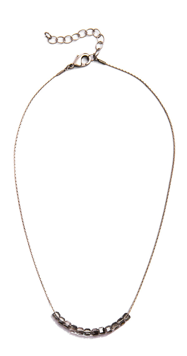 Grayling Basaltic Necklace in Anitque Silver