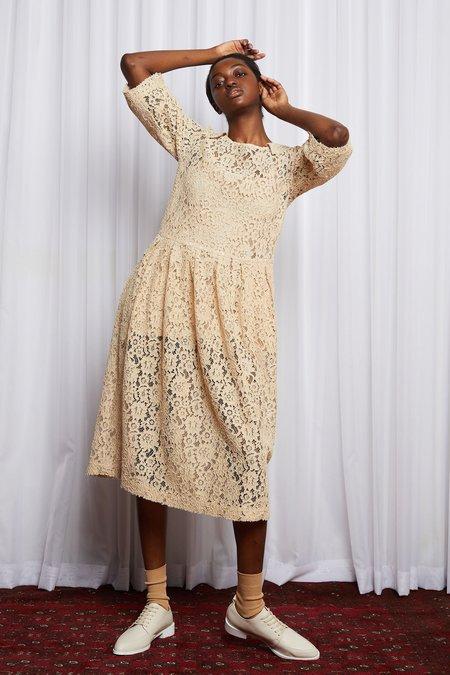 SALASAI STORY LINE DRESS - CARAMEL EMBROIDERY LACE
