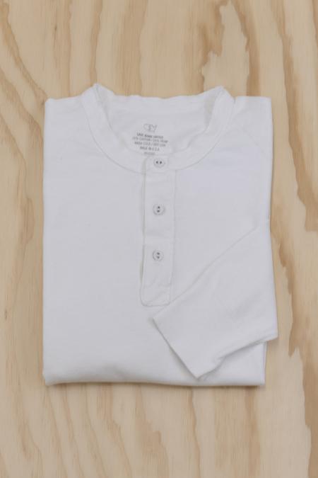 Save Khaki Long Sleeve Cotton Hemp Henley - white