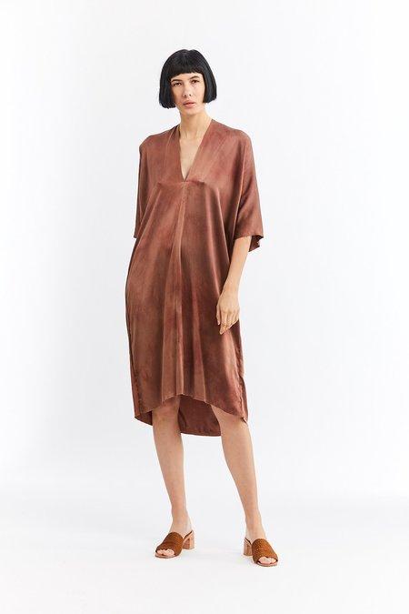 Miranda Bennett Silk Charmeuse Muse Dress - Acacia Iron V.I