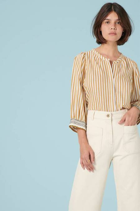 Sessun Song For You Blouse - Honey Gold Stripe