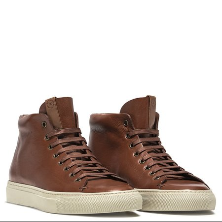 Buttero Leather Tanino Mid Sneakers - Light Brown