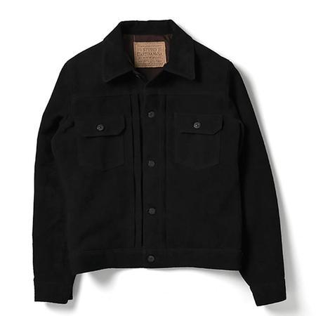 Studio D'Artisan Type II Leather Jacket - Black Suede