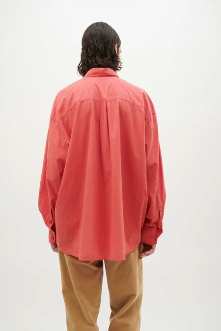 Our Legacy Borrowed BD Shirt - Light Red