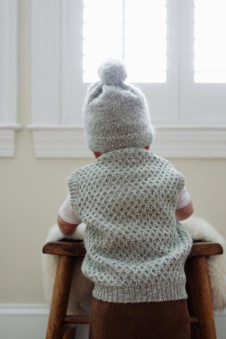 KIDS Petit Kolibri BABY ALPACA POMPOM HAT - CAMEL