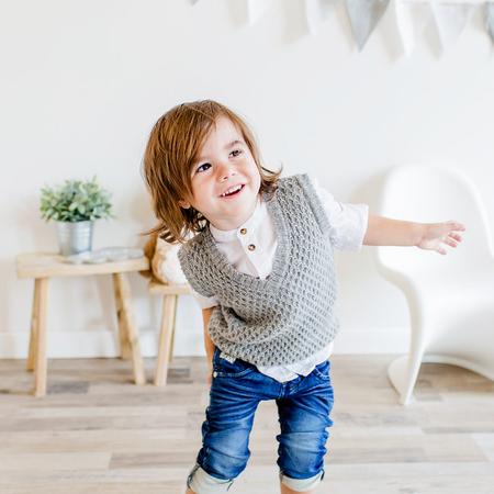 KIDS Petit Kolibri ORGANIC BABY ALPACA VEST - GREY