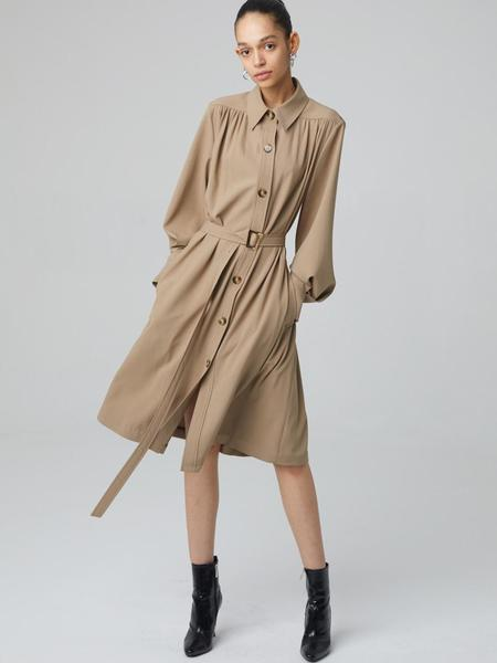 HAE BY HAEKIM Shirring Dress Coat - Beige