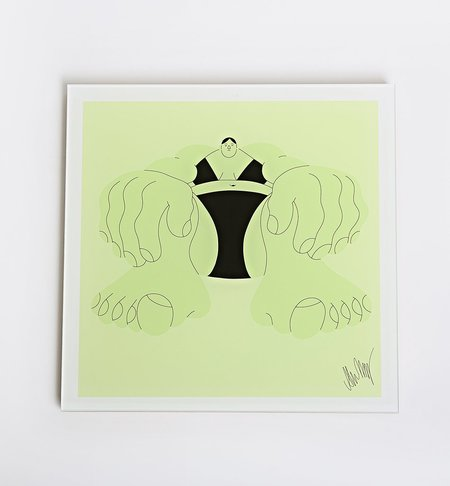 AS IT IS BY ALVA SKOG / CUSTOMIZED WOOD FRAME IN ACRYLIC GLASS COVER
