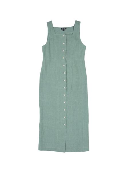 Ilana Kohn Ginny Dress in Jade Linen