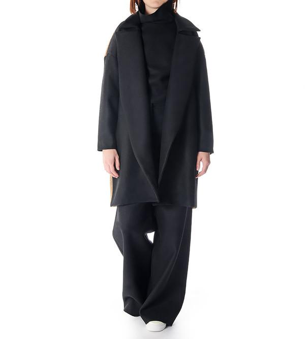 Charlie May Wool/Felt Drop Shoulder Coat
