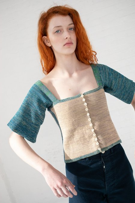 Intensity Edge Corset with 3/4 Sleeves - Sand