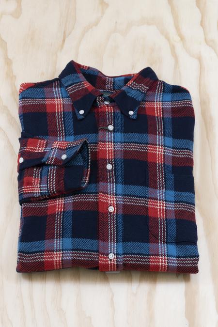 Gitman Bros. Wyoming Triple Yarn Flannel Shirt - Blue/Red
