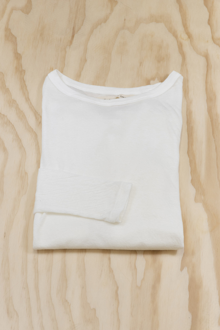 v :: room Double Gauze Jersey Long Sleeve Tee - White