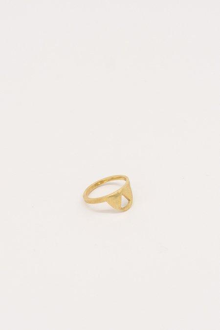 IL Design Gold Single Bali Ring