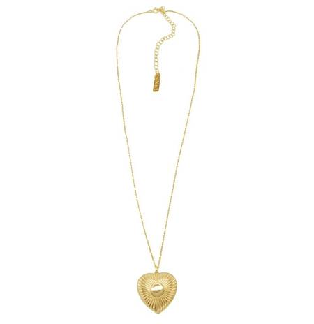 Natalie B. Jewelry Utopian Heart Pendant - 14k Gold
