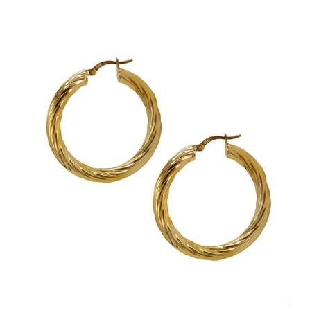 Natalie B. Jewelry Halo Hoop Earring - 14k Gold