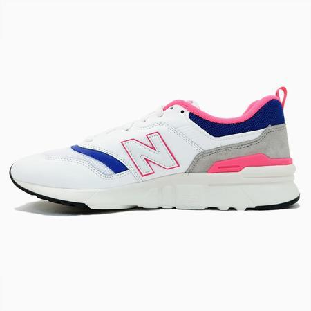 New Balance 997HAJ Sneaker - White/Pink-Blue